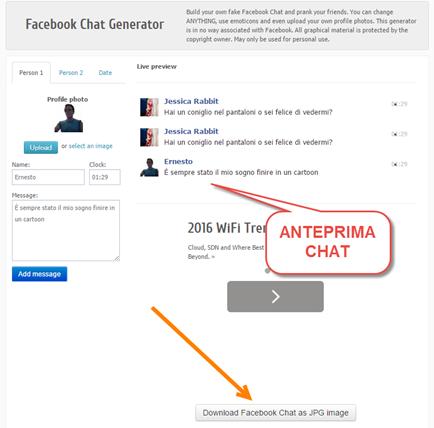 facebook-chat-generator