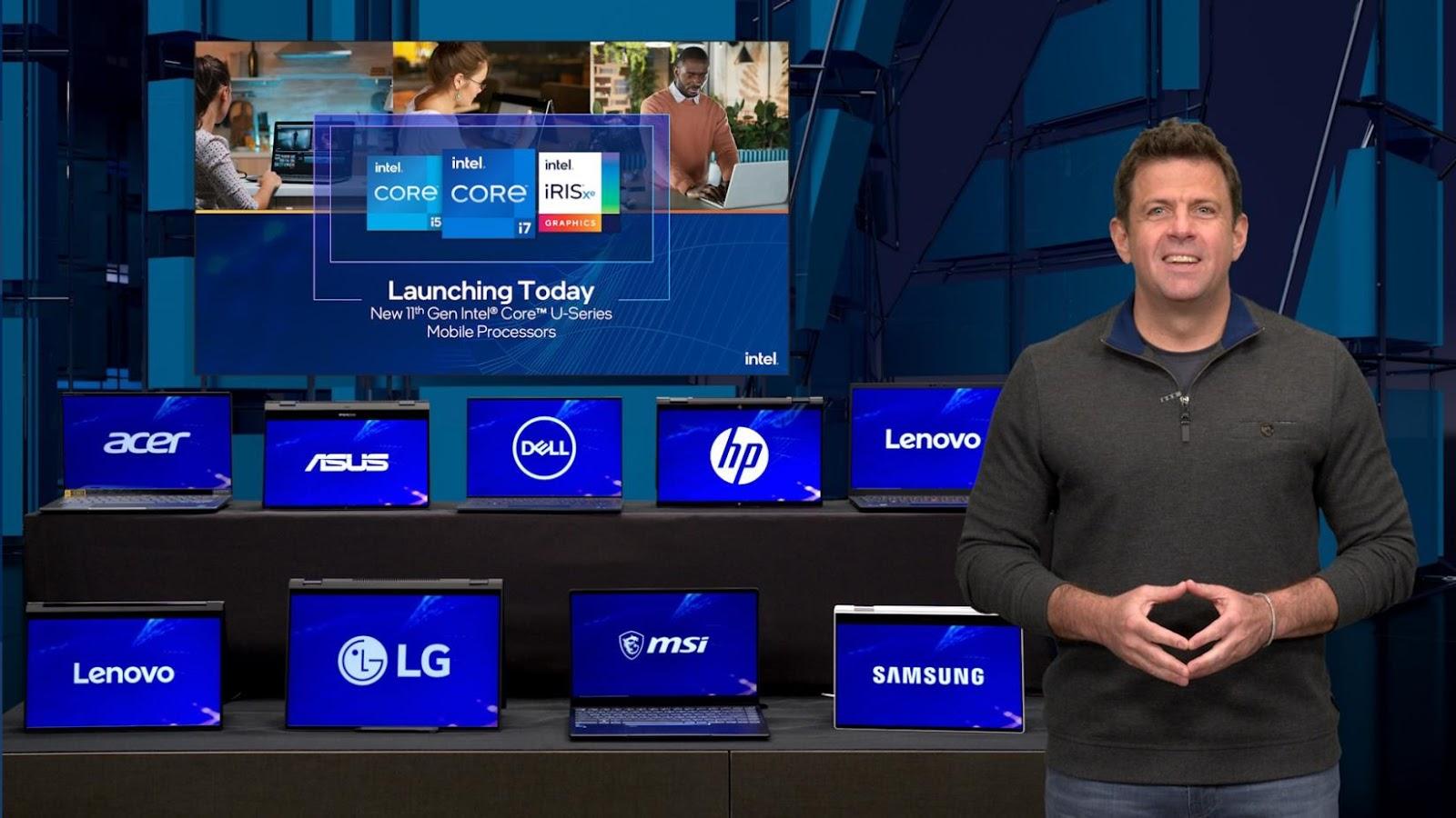 พบกับโปรเซสเซอร์ที่ดีที่สุดในโลกสำหรับวินโดว์สแล็ปท็อปบางและเบาที่ดีขึ้น ด้วย Intel Core รุ่นที่ 11 ใหม่พร้อมกราฟิก Intel Iris Xe, Intel Wi-Fi 6 / 6E (Gig +) และ Intel 5G Solution 5000
