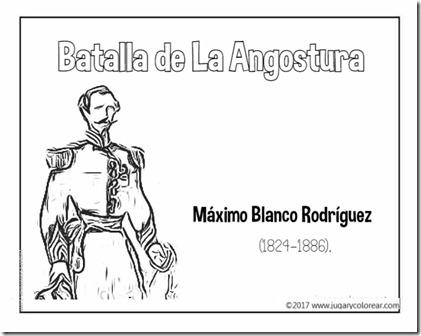 batalla de la angostura Máximo Blanco Rodríguez
