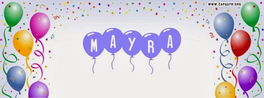 Capas para Facebook Mayra