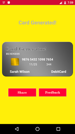 ... Fake Virtual Credit Card Generator screenshot 5 ...