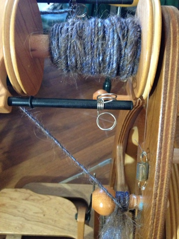 Making yarn from Donkey FIber! YES! It can be done!