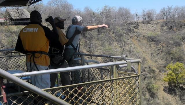 Marion taking the plunge toward the Zambezi