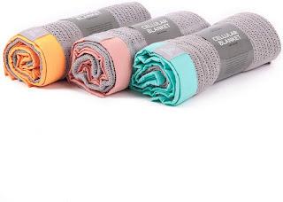 Deluxe Organic Cotton Cellular Baby Blanket - Pram blanket or Crib blanket -70cm x 90cm (pram size, Grey & Pink )