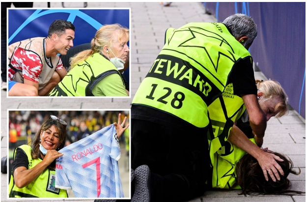 When I saw him, my headache was gone - Female steward hit by Cristiano Ronaldo's shot, speaks out