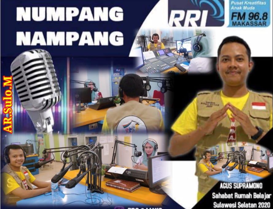SRB Agus Supramono Guru SDN Masumpu Jadi Bintang Tamu di Acara Numpang Nampang RRI Pro 2 Makassar 96.8 FM Sosialisasikan PRB