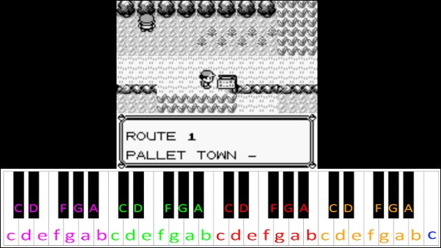 Route 1 Theme Pokemon Red Blue Yellow Piano Letter Notes