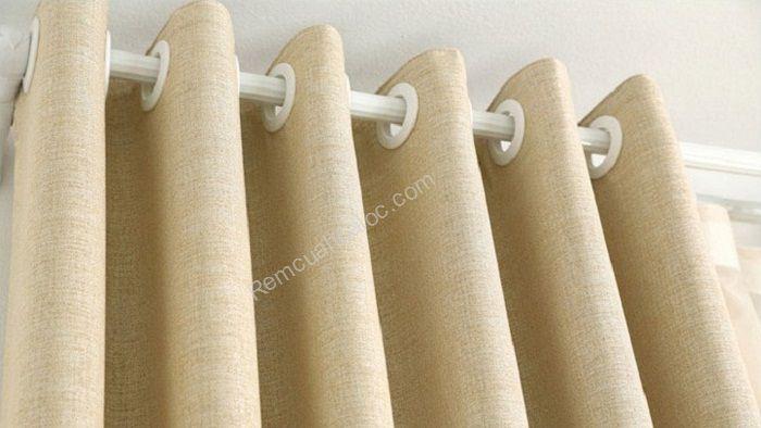Rèm cửa đẹp hà nội một màu vàng mịn 4