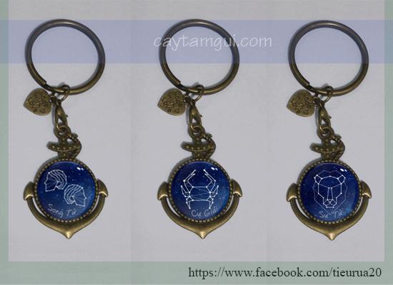 Móc khóa in hình handmade 12 cung hoàng đạo