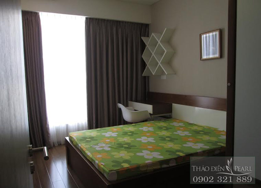 phòng ngủ 2 giá cho thuê căn hộ Thảo Điền Pearl