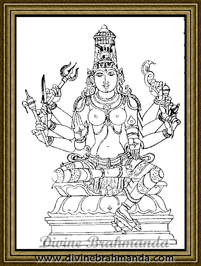 Soundarya Lahari Sloka, Yantra & Goddess To Cure Physical Or Mental Problems - 56
