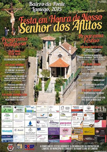Programa - Festa em Honra de Nosso Senhor dos Aflitos - Bairro da Ponte - Lamego - 2015