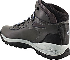 Columbia Newton Ridge Plus features a full grain leather waterproof upper. Tie closure with metal hooks and D-rings add durability to the laces and make lacing them up simplistic. Omni-Shield® water and stain-resistant treatment offers long-lasting wear.