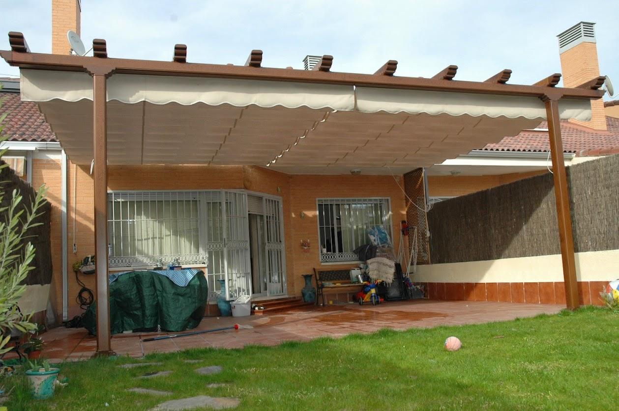 Modelos de toldos para jard n o patio en favara valencia - Toldos para patios exteriores ...