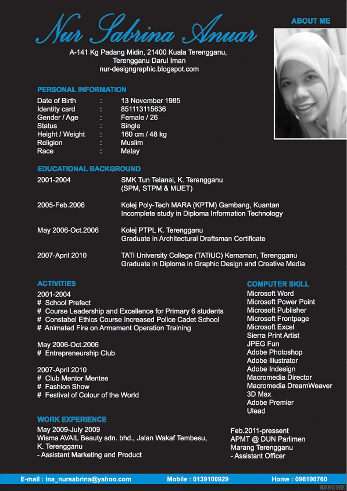 graphic design  design my resume