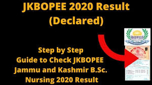 JKBOPEE B.Sc Nursing/ B.Sc Paramedical/ B.Sc Technology Courses-2020 CET Results Declared | Check Here