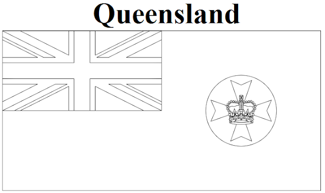 Geography Blog: Queensland Flag Coloring Page