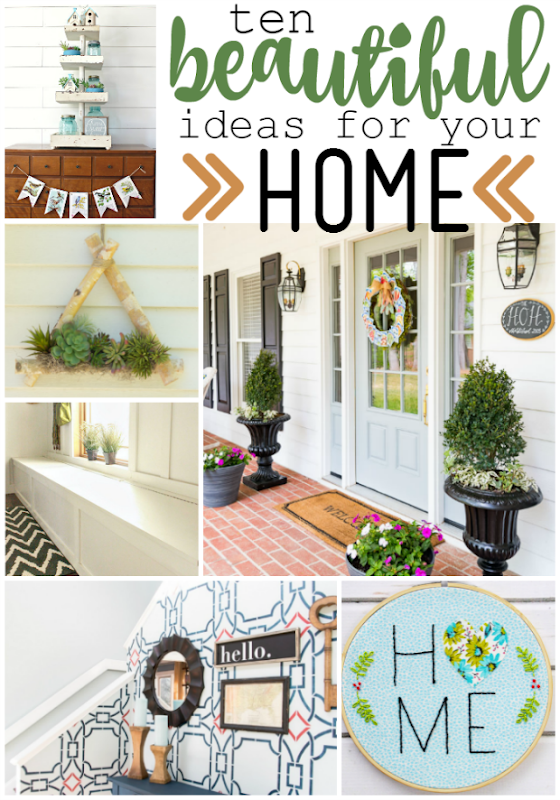 10 Beautiful Ideas for Your Home at GingerSnapCrafts.com #forthehome #homedecor