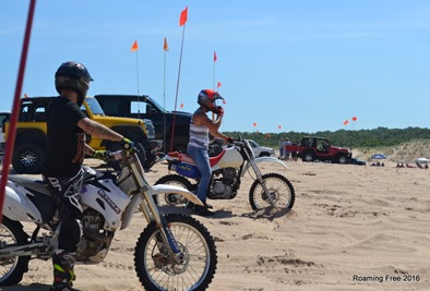 The dirtbikes are fun to watch!