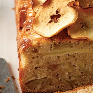 Apple Cake with Apple Wafers