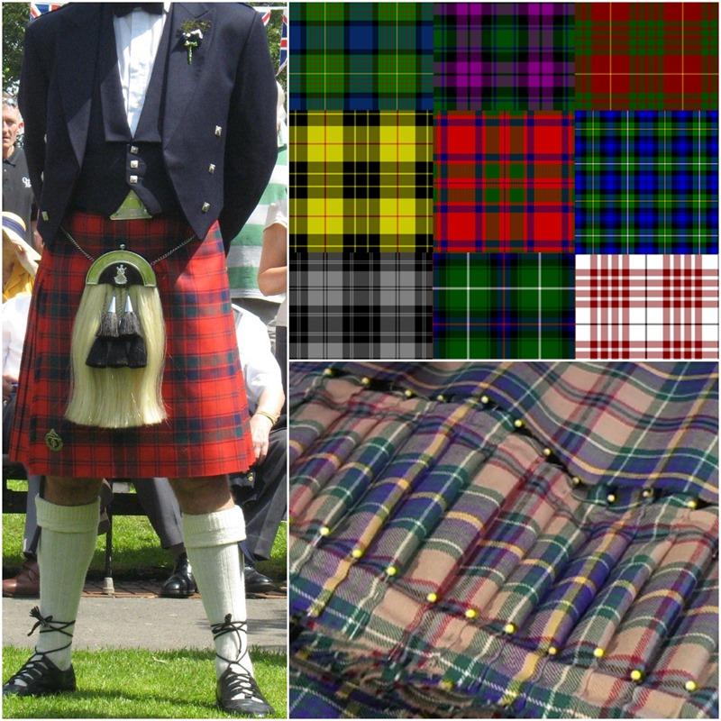 The modern Scottish kilt worn with formal evening wear