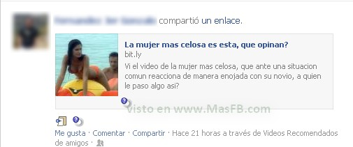 Compartiendo Videos Facebook Spam