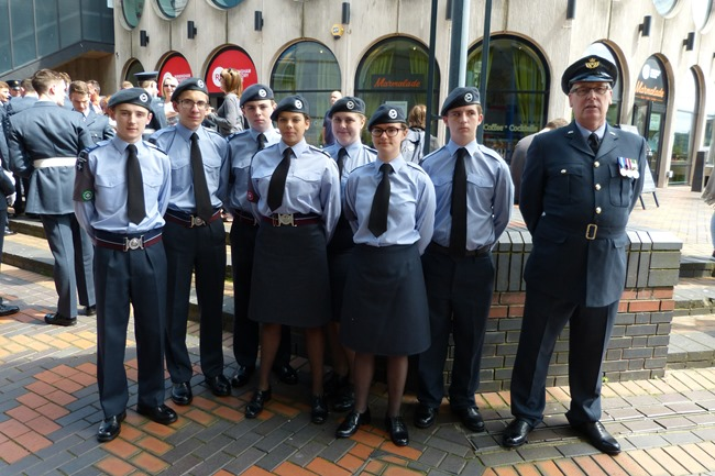 Armed Forces Day in Birmingham, Centenary square, Air Cadets