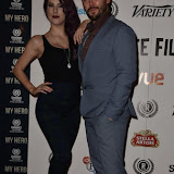 OIC - ENTSIMAGES.COM - Jasz Vegas and Martin Delaney at the  My Hero Film Premiere at Raindance Film Festival London 25th September 2015 Photo Mobis Photos/OIC 0203 174 1069