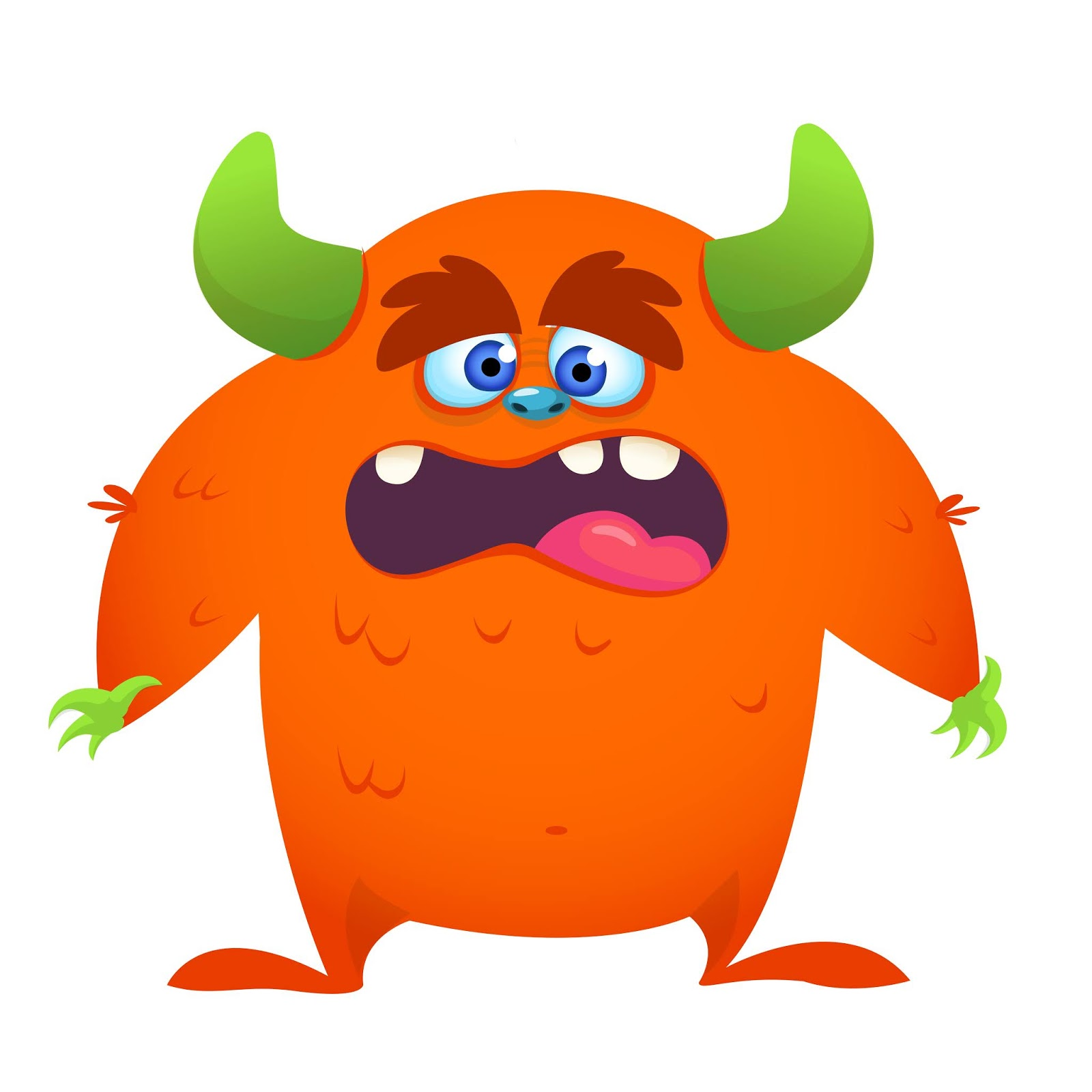Shocked Cartoon Monster Illustration Free Download Vector CDR, AI, EPS and PNG Formats
