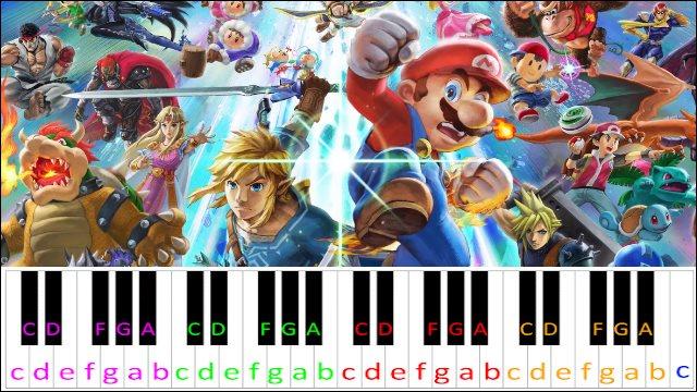 Lifelight (Super Smash Bros Theme) ~ Piano Letter Notes