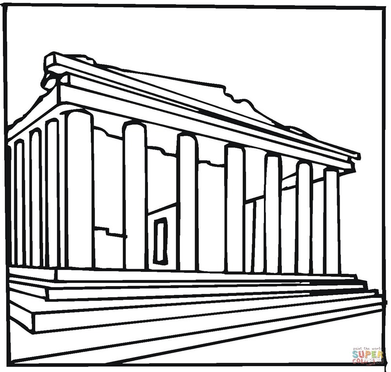 [parthenon-greece-coloring-page%5B2%5D]