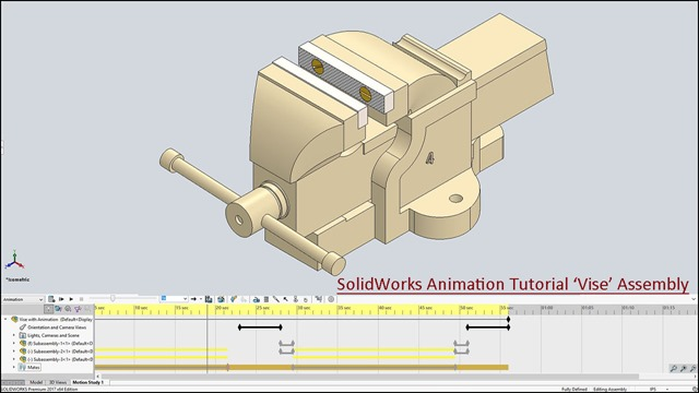SolidWorks Animation Tutorial 'Vise' Assembly_1