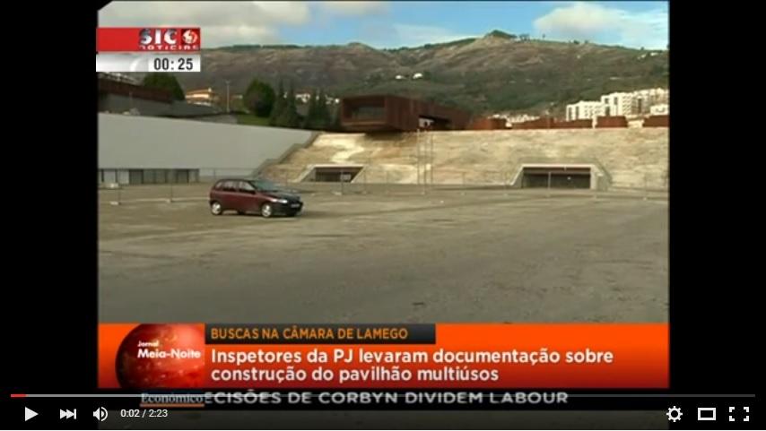 Reportagem SIC - Câmara de Lamego foi alvo de buscas da Polícia Judiciária