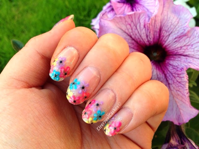 Pretty Petunia Nail Tutorial liverpoollashes shellac nails