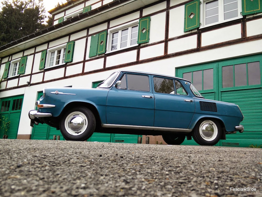 Škoda 1000MB vor der Feuerwehr Hengasch (Bergische Schweiz)