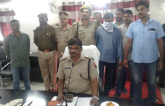 पुलिस अधीक्षक प्रदीप गुप्ता ने बड़ौदा ग्रामीण बैंक में 10 लाख की लूट का खुलासा किया