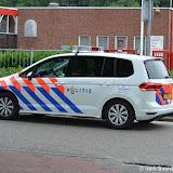 Politie achtervolgt man op Raadhuislaan Oude Pekela - Foto's Teunis Streunding