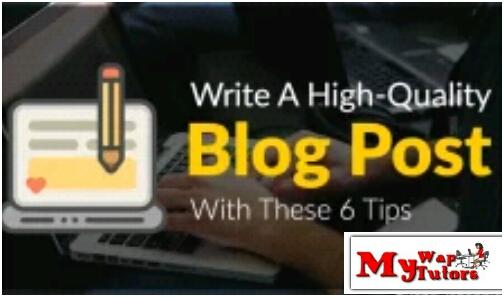 write a  quality post