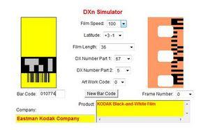 A régebbi Kodak Academy A DXn Simulator oldalán
