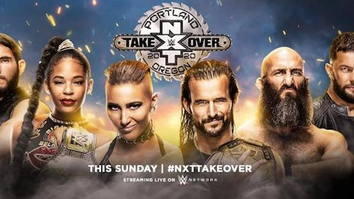 Poster Of WWE NXT TakeOver Portland 16th February 2020 HDTV 480P 300MB