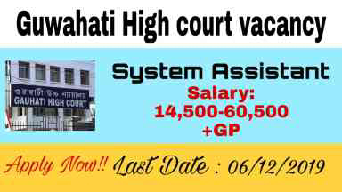 Guwahati high court system assistant