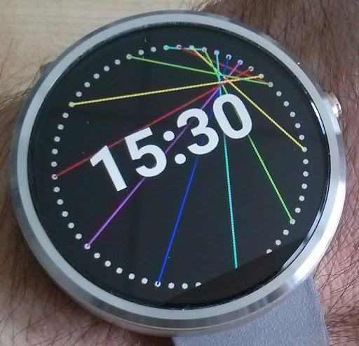 Tiny Laser Watch Face