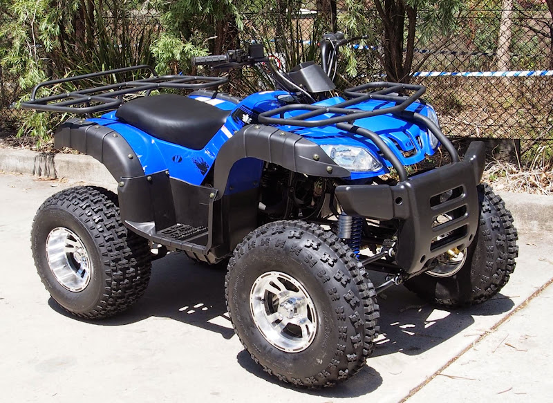 250cc Farm Quad Bike ATV Luxury Manual Blue