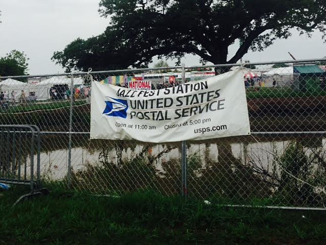Jazz Fest post office banner, 2015