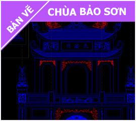 Bản vẽ Chùa Bảo Sơn