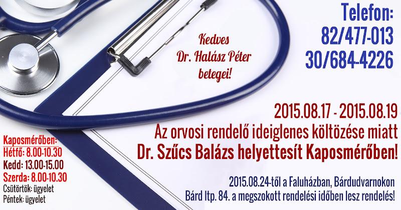 Orvosi rendelés változás 2015