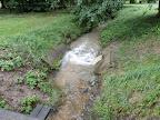 Da es viel regnete, dementsprechend auch viel Wasser im Bach