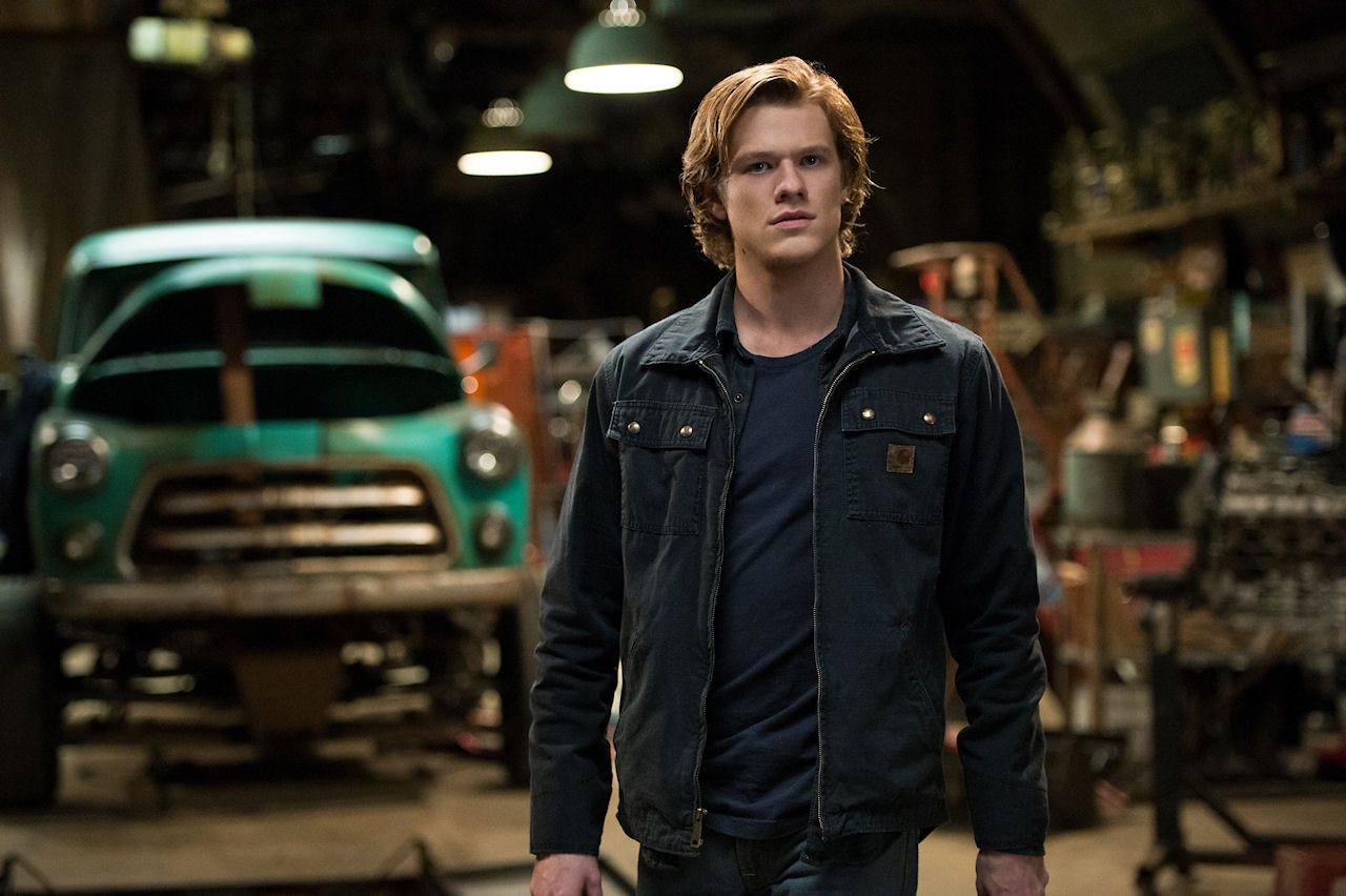 Lucas Till plays Tripp in MONSTER TRUCKS. (Photo by Kimberley French / courtesy of Paramount Pictures)