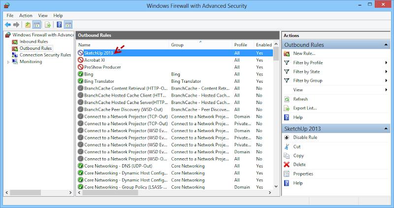 การบล็อกโปรแกรมไม่ให้เชื่อมต่ออินเตอร์เนตด้วย Windows Firewall Fwblockcon09