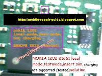 nokia 1661-1202 test mode problem